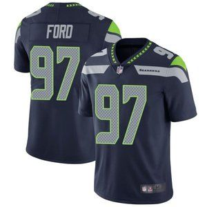 Seahawks Poona Ford Navy Jersey